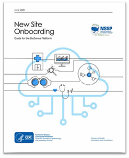 Cover of the NSSP BioSense Program New Site Onboarding Guide