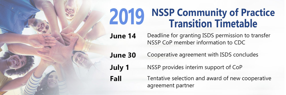 NSSP Community of Practice Transition Timetable