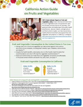 Cover: California Action Guide on Fruit and Vegetables