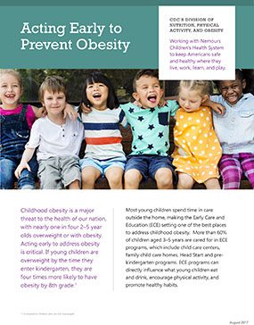 Cover: Acting Early to Prevent Obesity