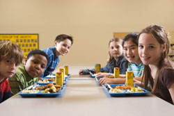 photo of children at a lunch table