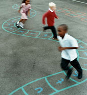 photo of children on a playground