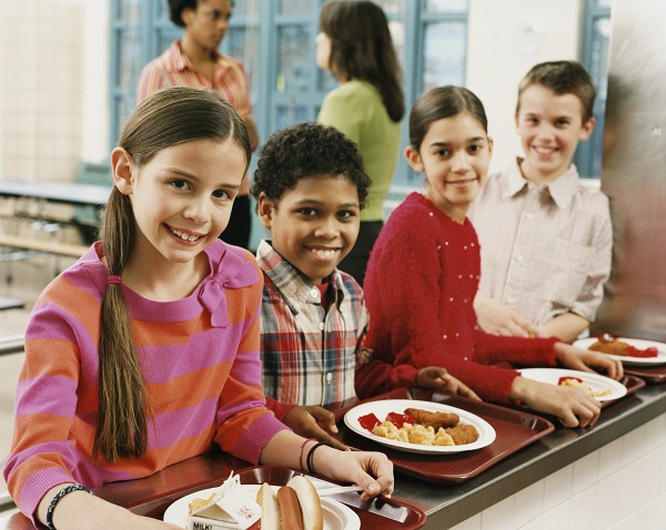 photo of children in cafeteria