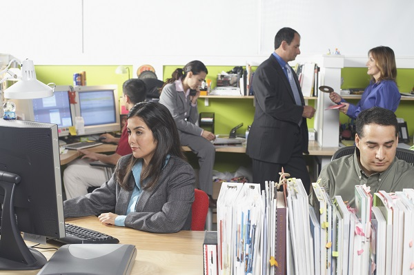 photo of employees in an office