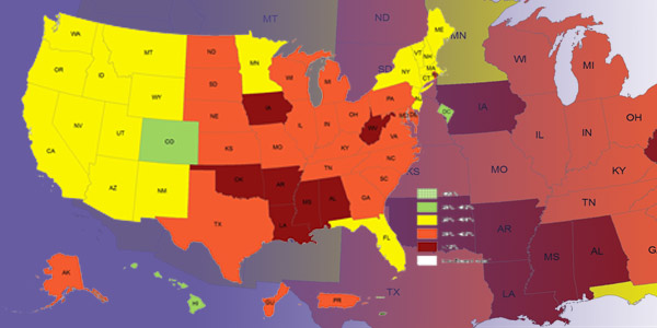 Adult Obesity Prevalence Maps Overweight Obesity CDC - Us obesity map 2015