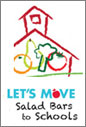 Image of the salad bars to schools badge