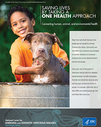 Front cover of fact sheet for One Health