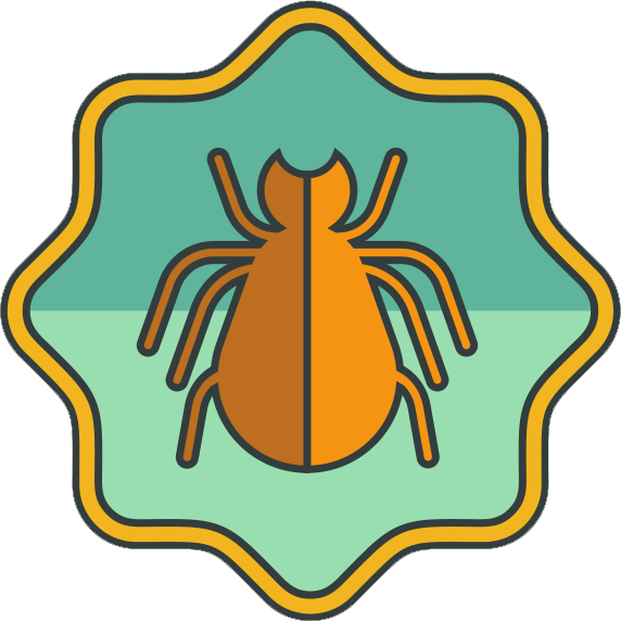 Vector image of tick