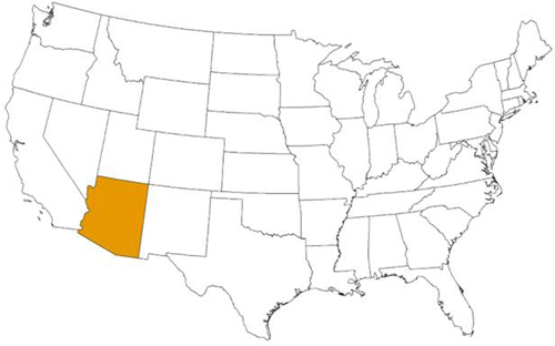 Map showing the estimated U.S. distribution of Triatoma recurva. The state highlighted is NM.