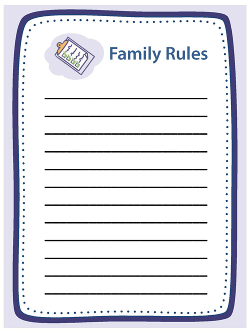 Creating structure activities essentials parenting for House rules chart template