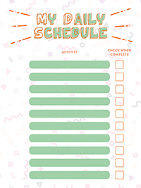 my Daily Schedule Blank