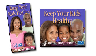 CDC Parent Information Buttons and Badges