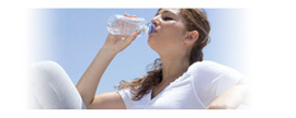 Graphic showing a teen-aged girl drinking water.