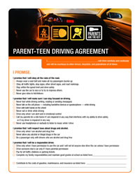 Parent Teen Contract >> Parent-Teen Driving Agreement   Parents Are the Key   CDC