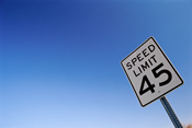 Photo of a speed limit sign