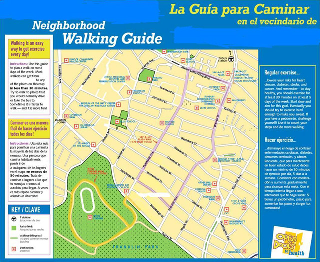 Preventing Chronic Disease  GIS Walking Maps To Promote