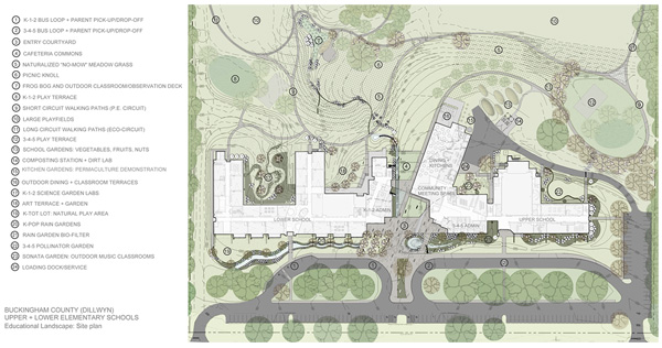 Site Plan For Upper And Lower Elementary Schools In Dillwyn, Virginia. [A  Larger Copy Of This Figure With Text Description (PDF U2013 308 KB) ...