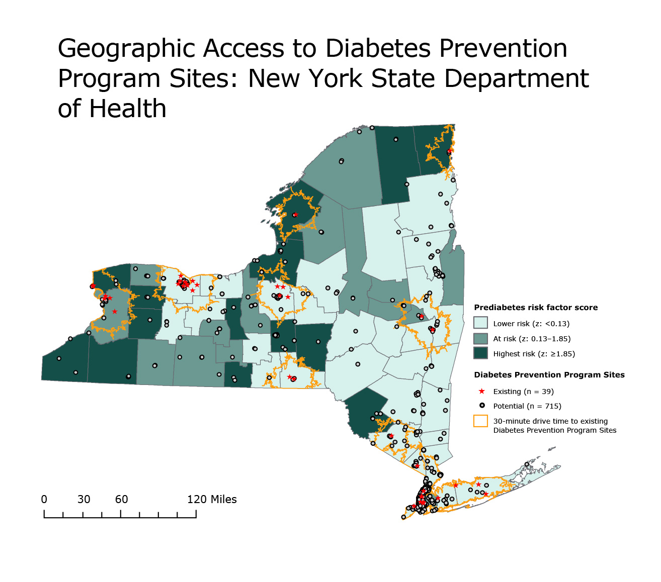 Diabetic Sites: Preventing Chronic Disease GIS Snapshot