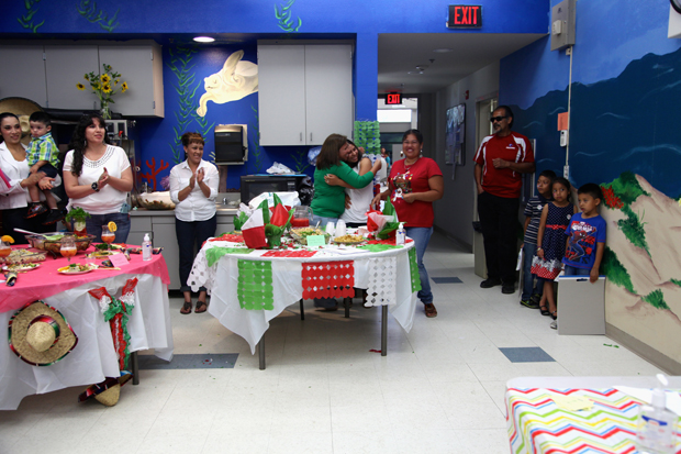 Photograph of a health fair cook-off, an activity from a culturally adapted nutrition education program for Mexican-origin families, California's Central Valley, 2012–2013.