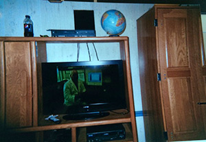 Photo of a flat-screen television in the home