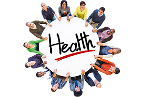 Group of People with Health graphic