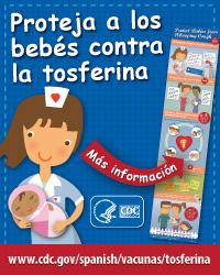 Proteja a los bebes contra la tosferina