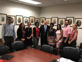 Associates interact and network with mentors and leaders across CDC. This group of associates met with CDC Director, Dr. Robert Redfield, when he was at their host site in New Orleans.
