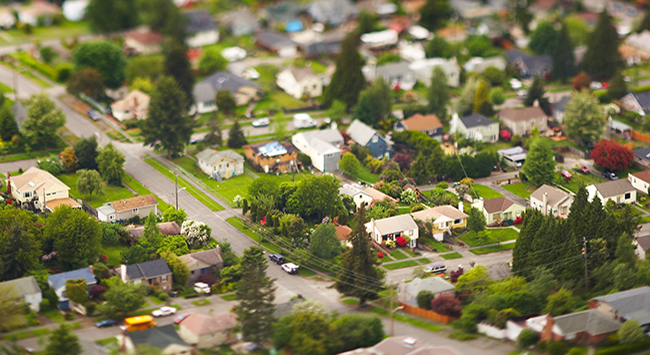 Photo: Picture of a neighborhood