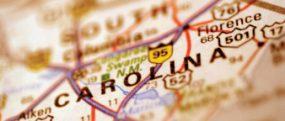 Blurred image of South Carolina map