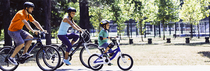 Family Riding Bikes Together - Nutrition | CDC