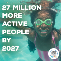 Active People Healthy Nation 27 million more active people by 2027, AA girl swimming
