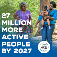 Active People Healthy Nation 27 million more active people by 2027, AA Mom and Grandmother