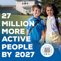 Active People Healthy Nation 27 million more active people by 2027, kids walking