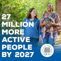 Active People Healthy Nation 27 million more active people by 2027, Latino Mother and Grandmother