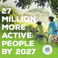 Active People Healthy Nation 27 million more active people by 2027, 2 Youths on bikes