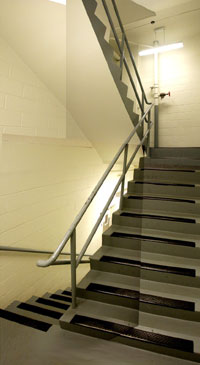 photo of stairwell before improvements