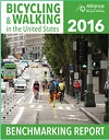 Report cover: Bicycling & Walking in the United States. 2016