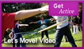 Video of First Lady Michelle Obama encouraging families to get active in the Great Outdoors.