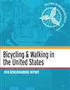 Report cover: Bicycling & Walking in the United States. 2018