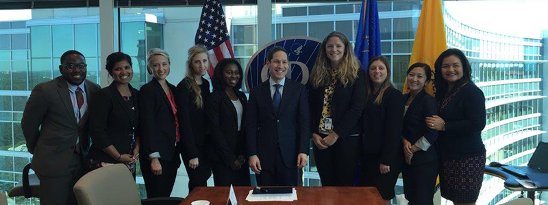Fellows in the PMF Program at CDC attending a mentoring session with Dr. Tom Frieden, CDC Director. Atlanta, GA (2015)