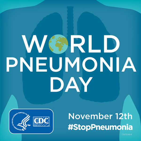 Graphic for World Pneumonia Day on November 12th. #StopPneumonia