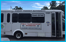 Photo showing a mass transit vehicle in Mississippi.