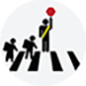 crossing guard icon