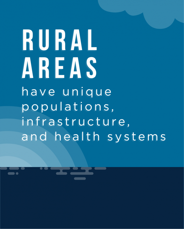 Rural Areas have unique populations, infrastructure and health systems