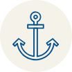 Icon of an anchor on menu bar for the Overview section