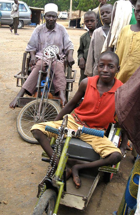 Two polio survivors in Nigeria (photo credit: Paul Chenoweth, 2007).
