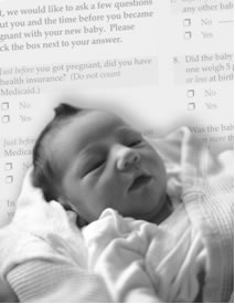 Baby and questionaire