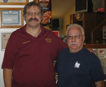 Steven DeBottis (left), president of the Rochester Recreation Club for the Deaf and Chuck DiVincenzo, a former club president