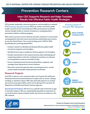 Prevention Research Center cover