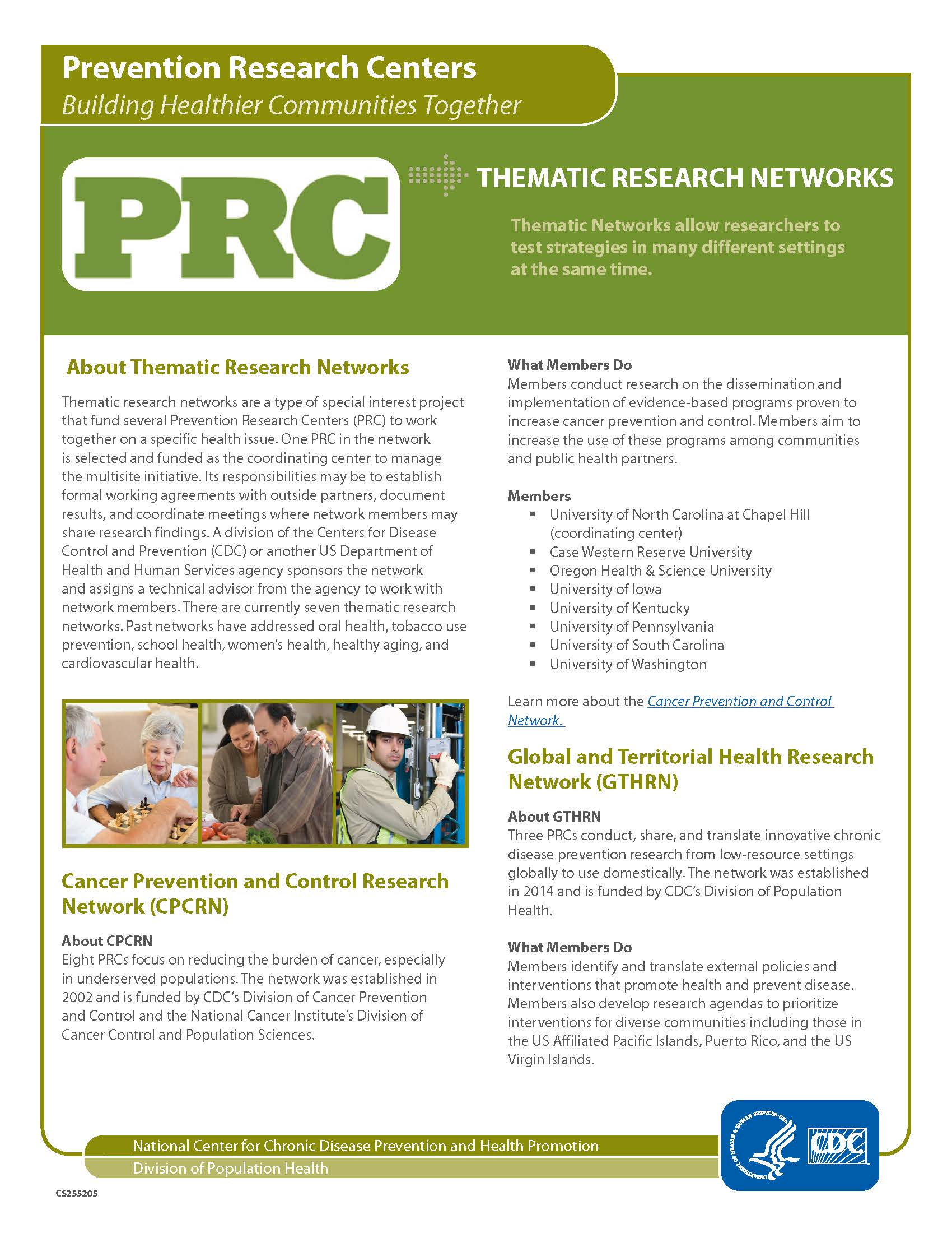 PRC Thematic Research Networks Fact Sheet